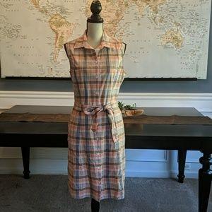 Plaid Lands End sleeveless dress